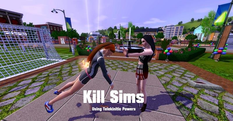 Симс 3 телекинез и убийство