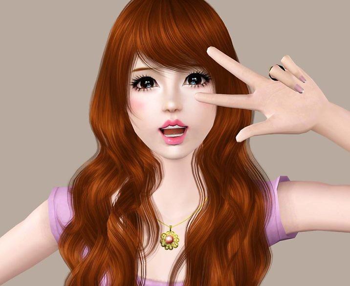 Симс 3 персонаж девушка Аки