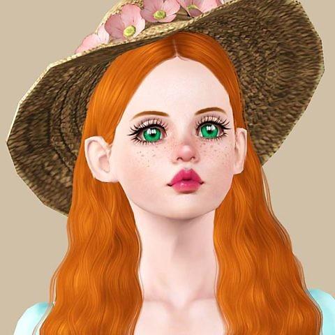 Симс 3 персонаж Элли в шляпке