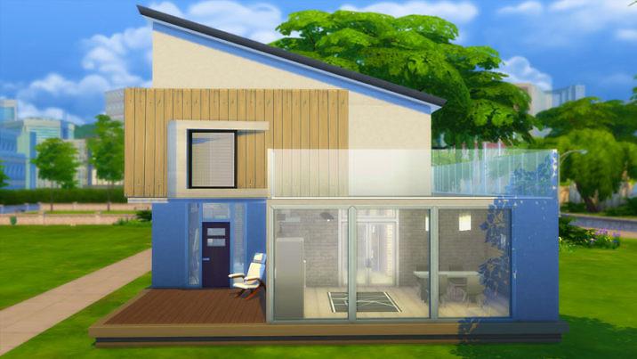 Дом в стиле лофт для Симс 4