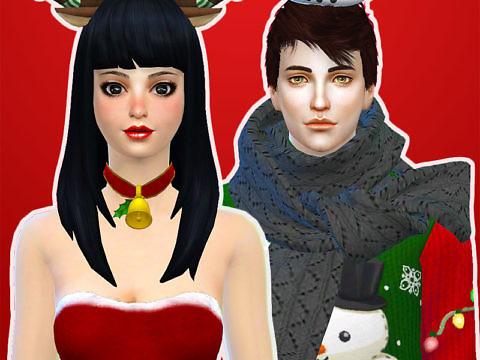 Симс 4 - аксессуары на зиму и Новый год