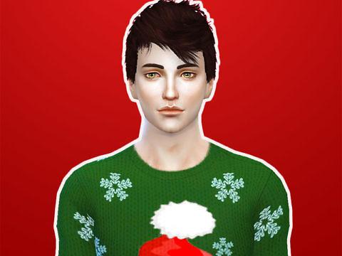 Симс 4 - мужская одежда на зиму и Новый год